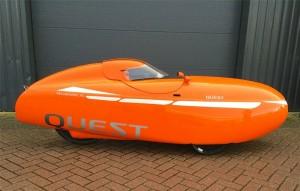 Quest ja racing hood (Kuva: Velomobielonderdelen.nl)