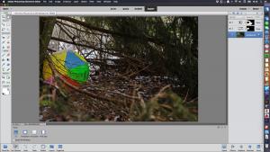 Photoshop Elements muokkausnäkymä
