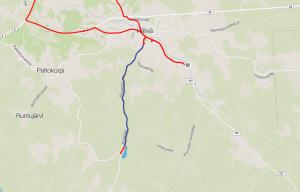 Mun uusi lemppari tie (sininen) / My new favourite road (blue)